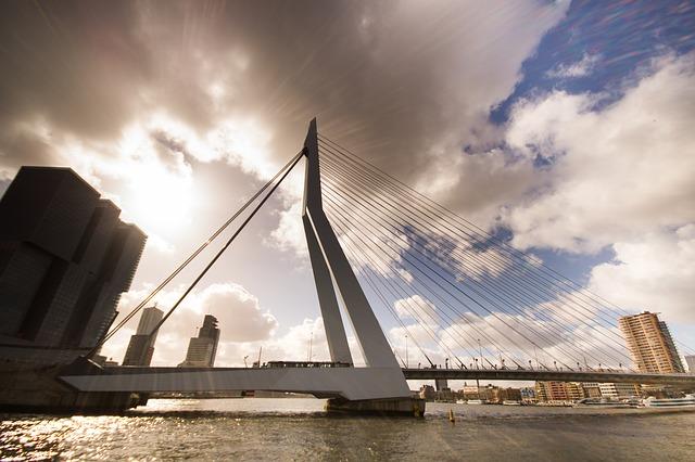 skyline over rotterdam