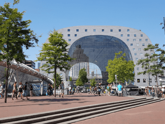 one day in rotterdam de markthal