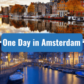 one day in amsterdam with canals