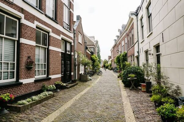 the beautifull streets in haarlem